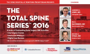 The Total Spine Series presented by NewYork-Presbyterian