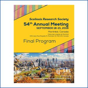SRS-Scoliosis Research Society-Annual Meeting-2019